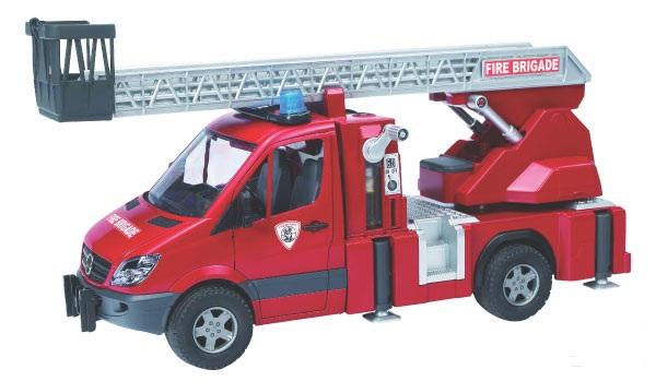 Bruder - Mercedes-Benz Sprinter hasičský vůz se žebříkem