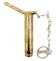 Kolík kat. 2 pro spodní závěs třetího bodu s řetězem a závlačkou délka 151 mm