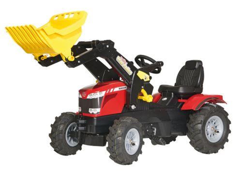 Rolly Toys - šlapací traktor MF 8650 s nakladačem a pneumatikami plněnými vzduchem