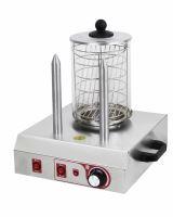 Párkovač hot dog, ohřívač párků v rohlíku, ohřívač hot-dogů dvoutrnový Beeketal BHG06b