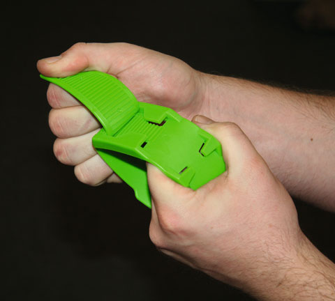 Páska na nohu ze speciálního plastu pro označování zvířat zelená