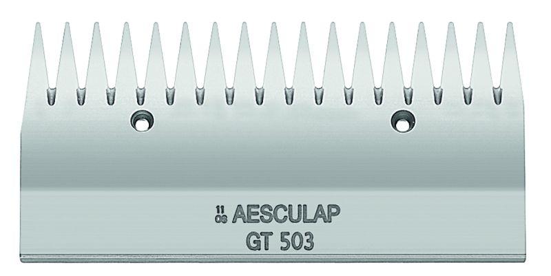 Horní nůž GT 503 široký 17 zubů ke strojku na stříhání skotu a koní Aesculap Econom II