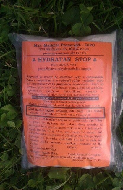 Hydratan Stop V 380 g pro přípravu rehydratačního roztoku pro telata, selata, jehňata 10 l