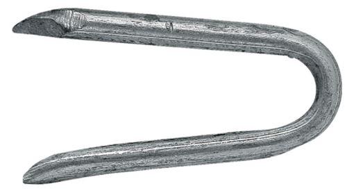 Zinkovaná skoba k upevnění ostnatého drátu 25 mm
