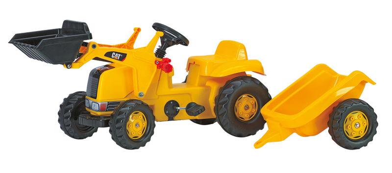 Rolly Toys - šlapací traktor CAT s přívěsem modelová řada Rolly Kid