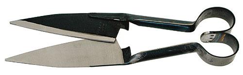 Nůžky na stříhání ovcí BERGER 2723 rovné délka ostří 160 mm péro ve tvaru srdce