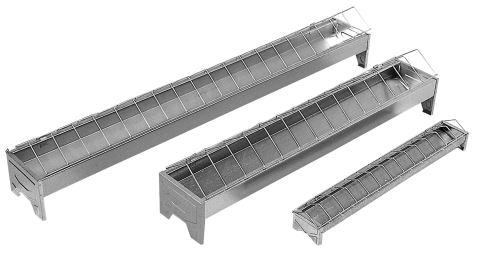 Krmítko pro drůbež kovové šířka 13 cm délka 50, 75 a 100 cm