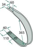 Stírací plech vhodný pro sběrací vozy Deutz-Fahr, Krone Turbo, Strautmann Vitesse