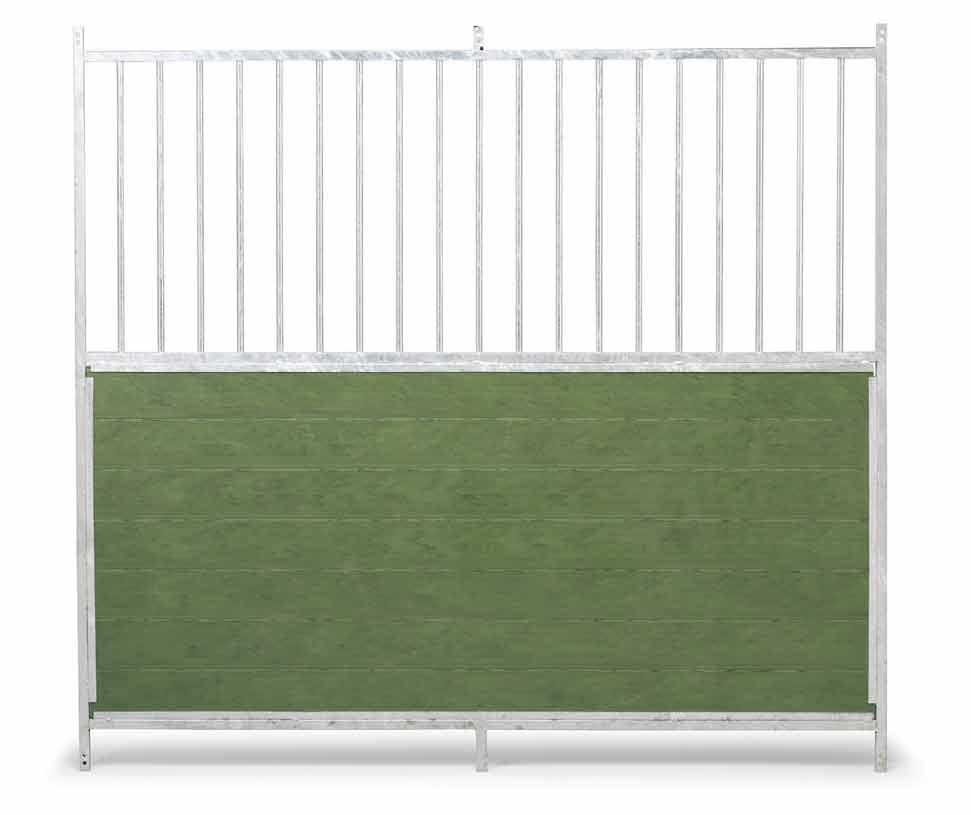 Stěna venkovního boxu 1,5 x 1,85 m pro psy kombinace tyčoviny a PVC