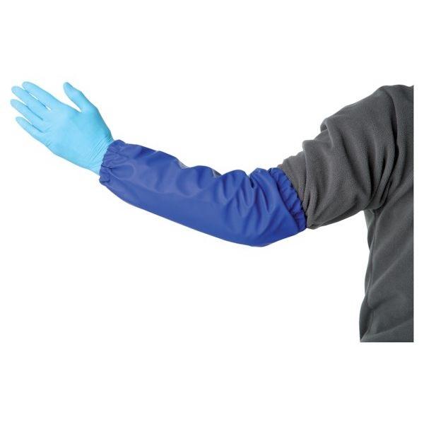 Chránič rukávů na dojení a mytí modrý FARMA 40 cm z PVC 2 ks