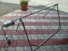 Zahradní gril na sele, prase, kýtu nerezový s motorem na gril B440 - 220V venkovní