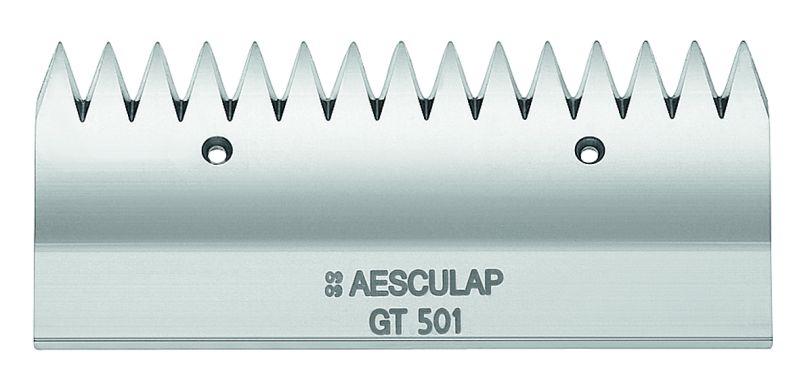 Horní nůž GT 501 rovný 15 zubů ke strojku na stříhání skotu a koní Aesculap Econom II