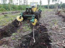 Dvoutalířová lesní půdní fréza TPF-2