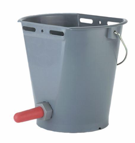 Napájecí kbelík s dudlíkem pro telata plastový 8 l