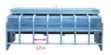 Násypné krmítko pro jehňata s průlezem Pasdelou 265 l do třetího bodu traktoru