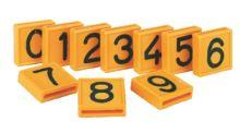 Číslo 0-9 k navlékání na obojky nebo opasky k označování skotu 10 ks