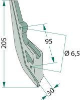 Ostří secí botky vhodné pro Kuhn Nodet na kukuřici krátké