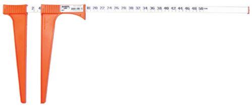 Lehká hliníková lesnická průměrka EIA s plastovými čelistmi 50 cm nekalibrovaná