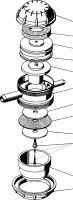 Pulzátor membránový BPM 362 pro konvové a potrubní dojení krav