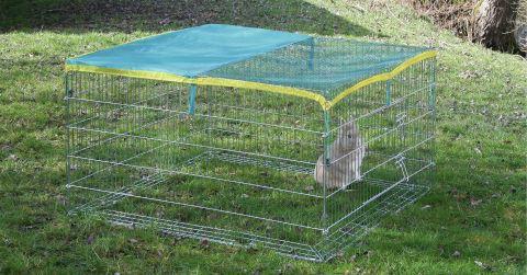 Venkovní klecový výběh pro králíky 115 x 115 x 65 cm