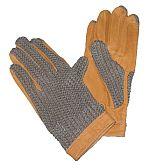 Jezdecké rukavice kožené s textilní hřbetovou částí barva černá velikost L