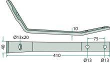 Rameno pera vhodné pro obraceče Pöttinger HIT 40, 47, 54 délka 410 mm