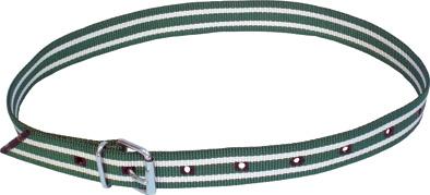 Krční řemen zelenobílý s přezkou 120 cm na čísla na označování skotu